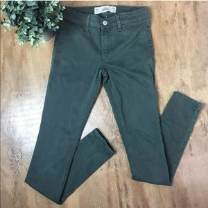 Hollister Super Skinny Jeans Olive Army Green